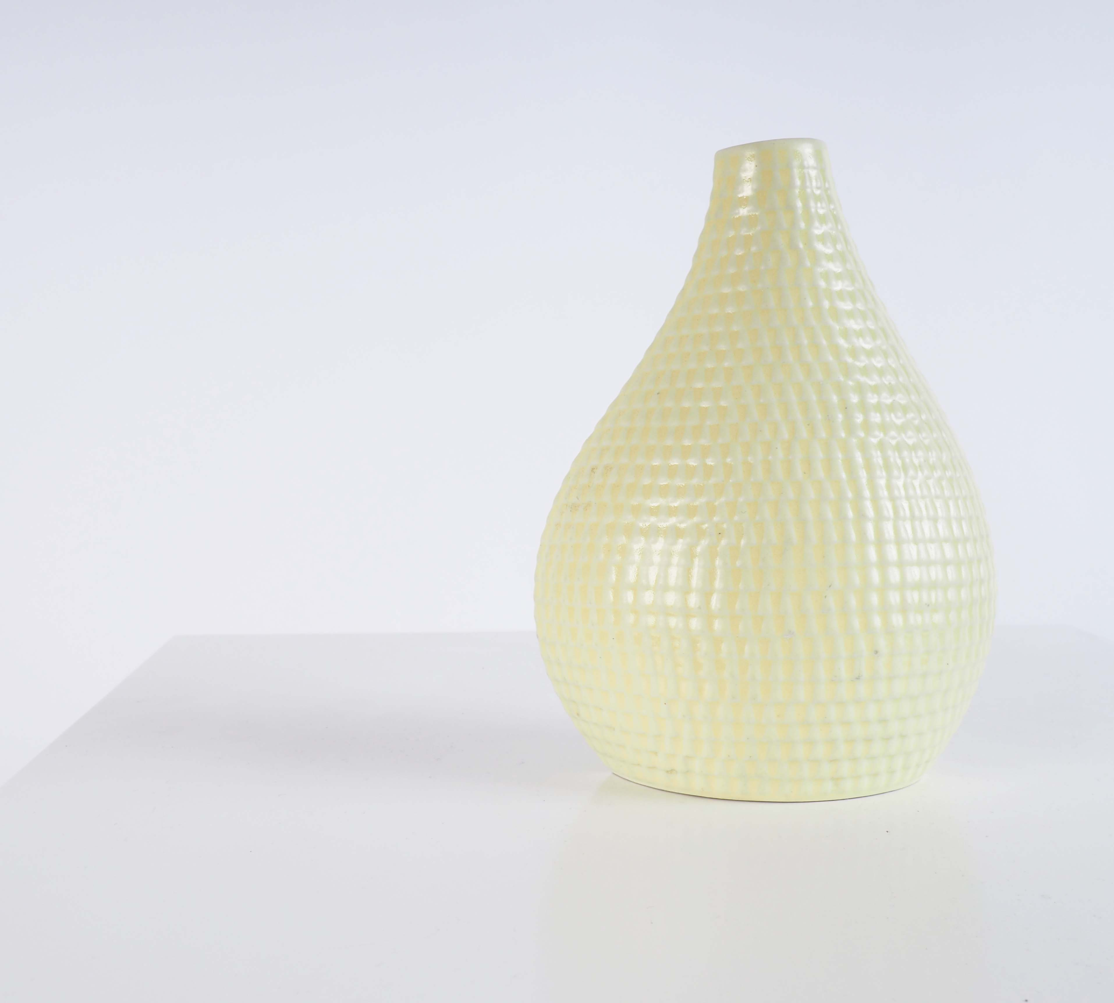 Yellow vase from the Reptile series by Stig Lindberg, Gustavsberg, Sweden