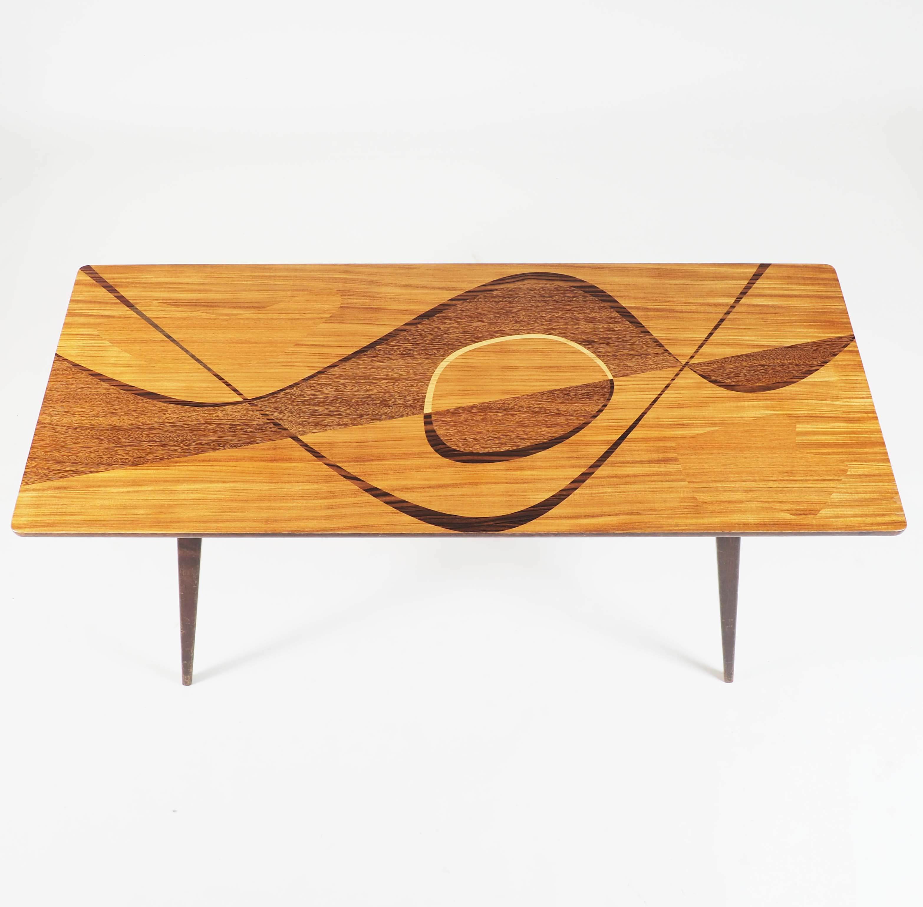 Coffee Table with inlaid wood, Sweden, 1950´s