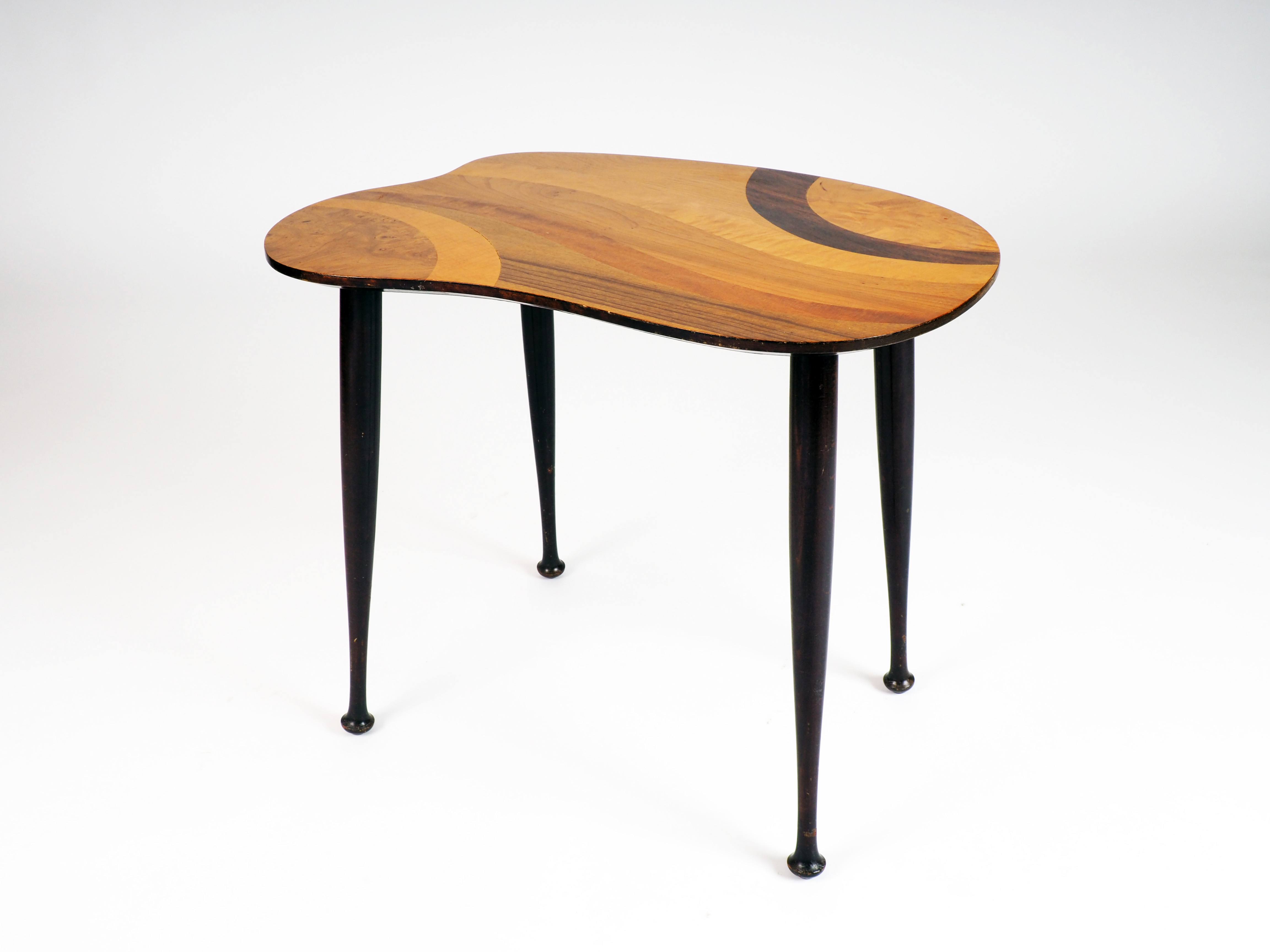 Small table with inlaid wood