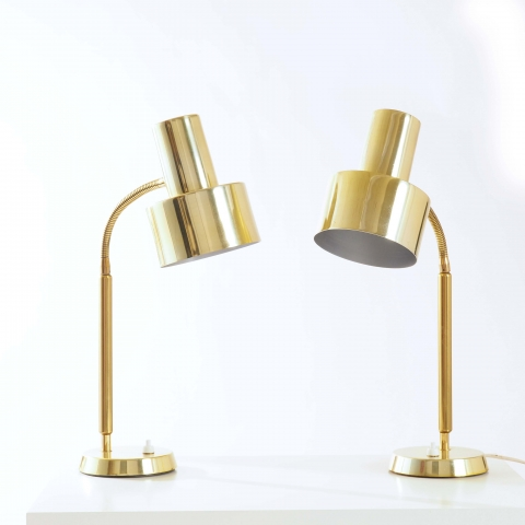 Table lamps in brass by Boréns