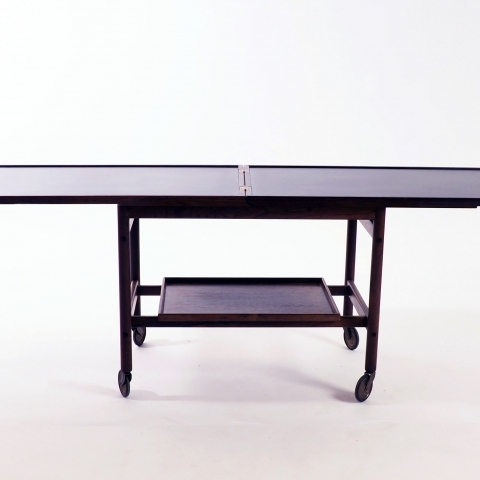 Trolley in rosewood and formica by Kurt Östervig