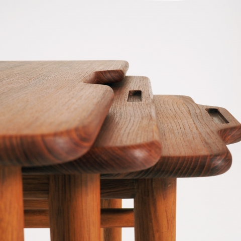 Stacking tables by Kurt Östervig